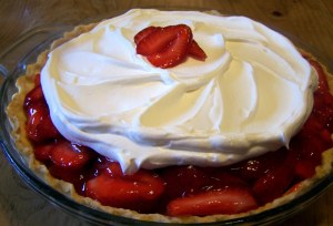 Pi Day Strawberry Pie